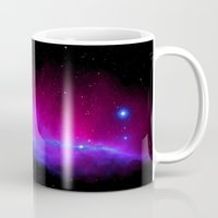nebula Mugs featuring nEbulA : Horsehead Nebula Fuchsia & Violet by 2sweet4words Designs