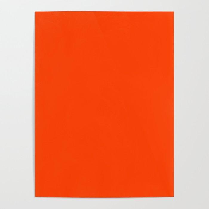 Bright Fluorescent Neon Orange Poster