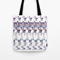 skeleton Tote Bags featuring Skeleton by Ali GULEC