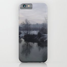 River Wye In Winter Herefordshire English Countryside iPhone Case