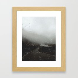 Escaping an Avalanche at Milford Sound Framed Art Print