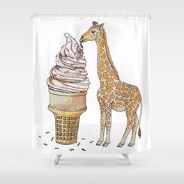 Ice Cream for a Giraffe Shower Curtain