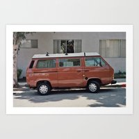 van Art Prints featuring Van by Kyle Hurley