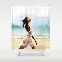 thailand Shower Curtains featuring Thailand by tatiana-teni