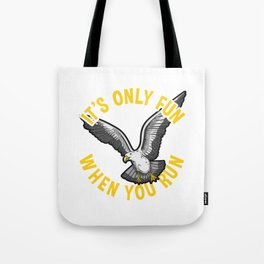 Crazy Seagull design for bird and sea lovers Tote Bag