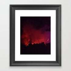 Circus Orange, the Red Lady Again  2014 Framed Art Print