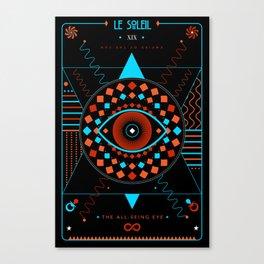 TAROT. XIX- Le Soleil Canvas Print