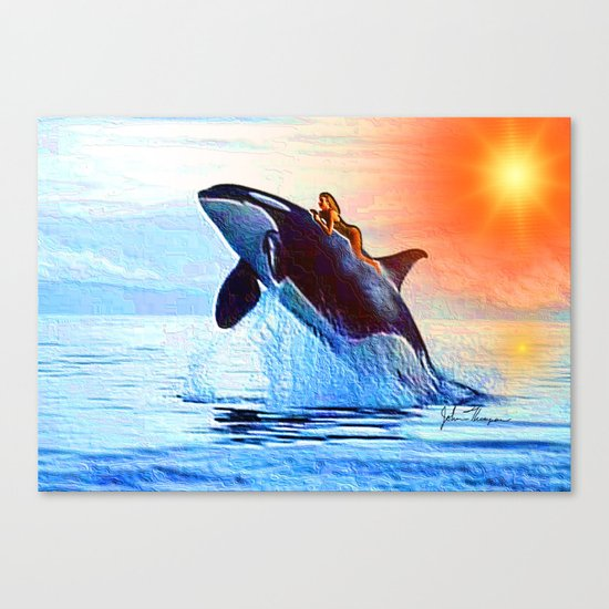 Orca Queen Canvas Print