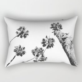 {2 of 2} Palm Trees = Happy // Black and White Summer Sky Rectangular Pillow