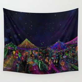 Magical Night Market Wall Tapestry