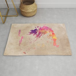 Greece map #greece #map Rug