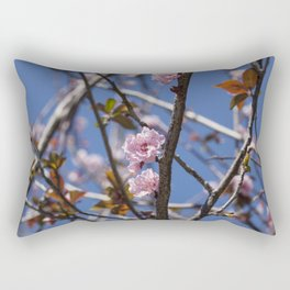 Branches of flowering Plum Rectangular Pillow