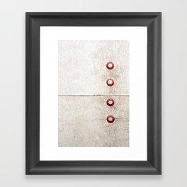 Four on Gray Framed Art Print