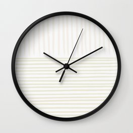 Contra Linen Lines Wall Clock