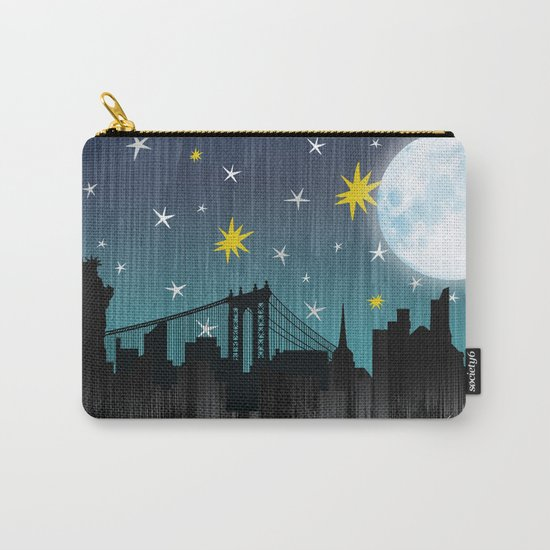 Starry Night Over Manhattan Carry-All Pouch