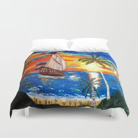 pirates Duvet Covers featuring PIRATES by Aat Kuijpers