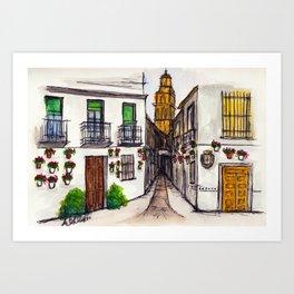 Calleja De Las Flores, Cordoba Spain Art Print
