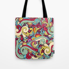 Colorful Hippie Swirl Pattern 1 Tote Bag