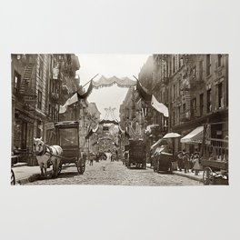 Little Italy Mott Street NYC Photograph (1908) Rug