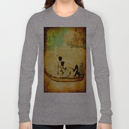 The gondola bicycle ( per Luca ) Long Sleeve T-shirt