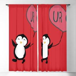 UR OK Penguin in love Blackout Curtain