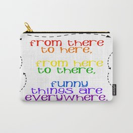 Rainbow Typography Carry-All Pouch