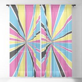 CMYK Star Burst Sheer Curtain