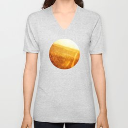 Through gold-woven dreams Unisex V-Neck