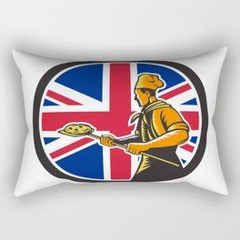 British Pizza Baker Union Jack Flag Icon Rectangular Pillow