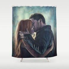 Clary & Jace Shower Curtain