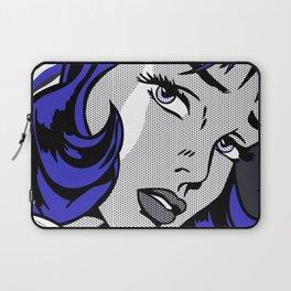Girl with Hair Ribbon03++BlueHair2 Laptop Sleeve