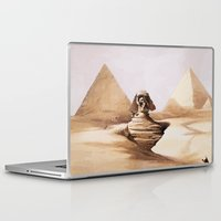 egypt Laptop & iPad Skins featuring Dark egypt by Tony Vazquez