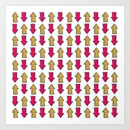 Bright pink orange modern artistic arrows Art Print