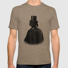 Lord Vadersworth (mono) SMALL Tri-Coffee Mens Fitted Tee