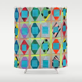 Diamonds and Squares Shower Curtain