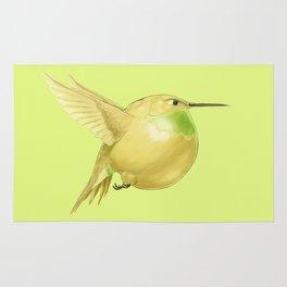Hh - Honeybird // Half Hummingbird, Half Honeydew Melon Rug
