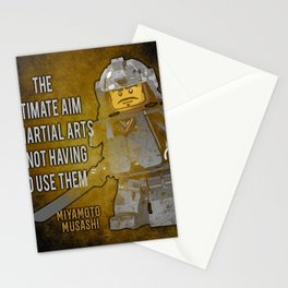 Samurai Musashi Martial Arts quote Stationery Cards