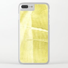 Yellow green abstract Clear iPhone Case