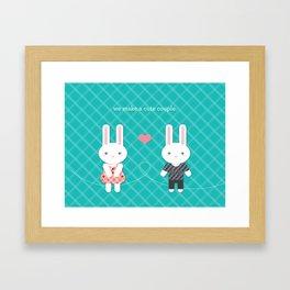 Bunny Couple Framed Art Print