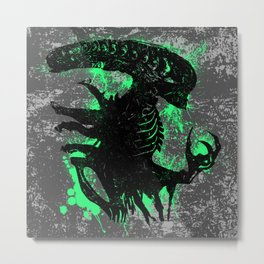 Alien Acid Green Metal Print