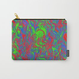 Liquid Techno Pattern Carry-All Pouch