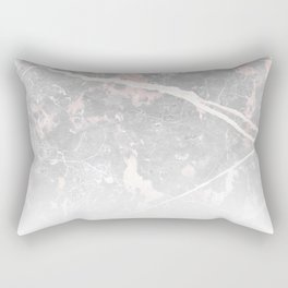 Pastel Pink & Grey Marble - Ombre Rectangular Pillow