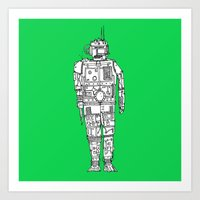 Robots have that monday feeling too Art Print