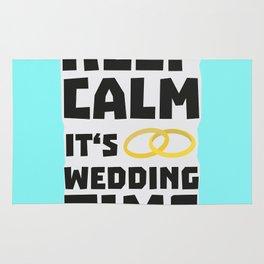 wedding time keep calm Bw8cz Rug