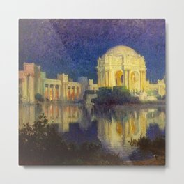 San Francisco Palace of the Fine Arts Temple and Lagoon landscape painting by Colin Campbell Cooper  Metal Print