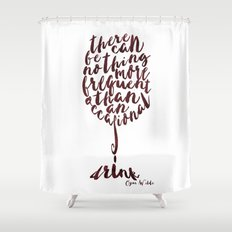 Drink - Oscar Wilde Shower Curtain