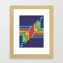 Rainbow Bars Graphic Framed Art Print