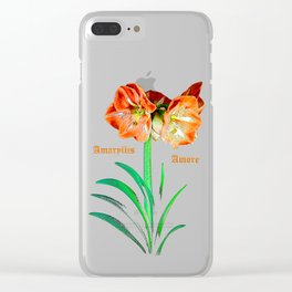 Amaryllis Amore Clear iPhone Case