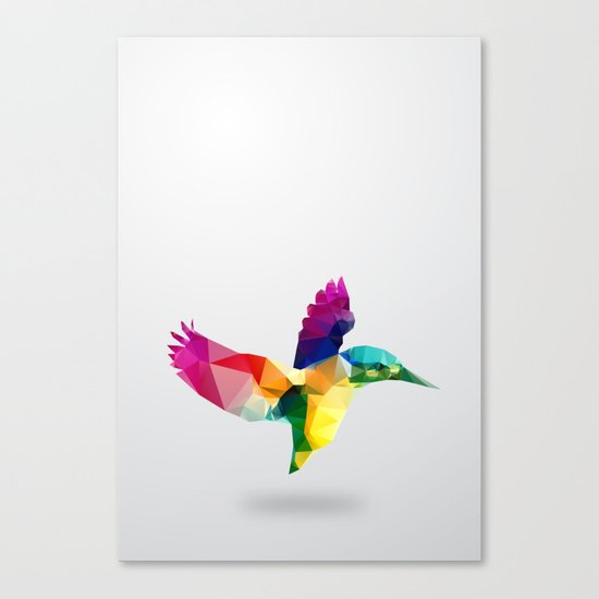 Bird. Glass animal series Canvas Print