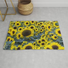 Fields of Sunflowers Rug
